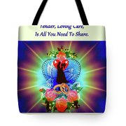 Brian Exton Peace Light And Love  Bigstock 164301632  12779828 Tote Bag