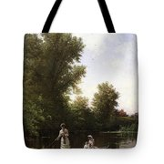 Bricher Boating In The Afternoon Tote Bag