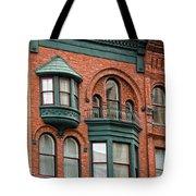 Brick And Green Tote Bag