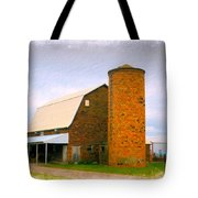 Brick Barn And Silo Tote Bag
