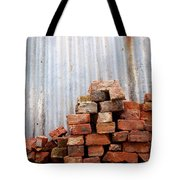 Brick Piled Tote Bag by Stephen Mitchell
