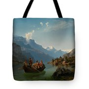 Bridal Procession On The Hardangerfjord Tote Bag