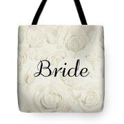 Bride Floral Design- Cream White Tote Bag
