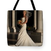 Bride In A Park Tote Bag