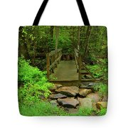 Bridge Across A River Is Part Of The Pa At Tote Bag