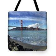 Bridge And Sea Tote Bag