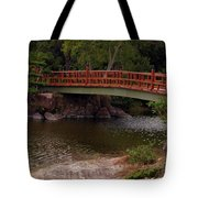 Bridge At Morikami Tote Bag