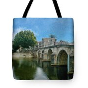 Bridge At Quissac - P4a16005 Tote Bag