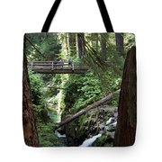Bridge At Sol Duc Fall #1 Tote Bag