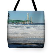 Bridge At Winter Tote Bag