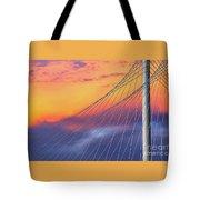 Bridge Detail At Sunrise Tote Bag