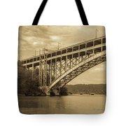 Bridge From The Train Tote Bag