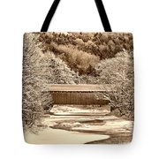 Bridge In Sepia Tote Bag