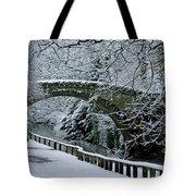 Bridge In Snow Tote Bag
