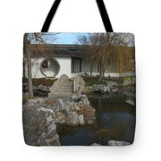 Bridge In The Chinese Garden Tote Bag