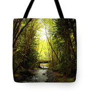 Bridge In The Rainforest Tote Bag