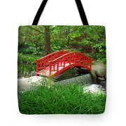 Bridge In The Woods Tote Bag