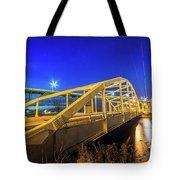 Bridge Meridian Sault Ste. Marie, Michigan -6792 Tote Bag