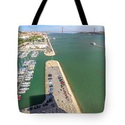 Bridge Of 25 April Panorama Tote Bag