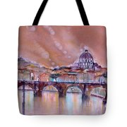 Bridge Of Angels - Rome - Italy Tote Bag