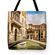 Bridge On The Canal Tote Bag