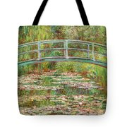 Bridge Over A Pond Of Water Lilies Tote Bag