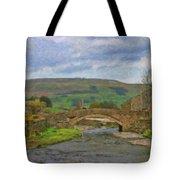 Bridge Over Duerley Beck - P4a16020 Tote Bag