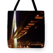 Bridge Over Hong Kong Harbor Tote Bag