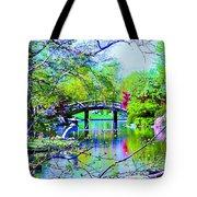 Bridge Over Peaceful Waters Tote Bag