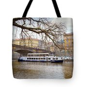 Bridge Over River Vltava Tote Bag