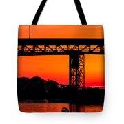 Bridge Over Sunset Tote Bag