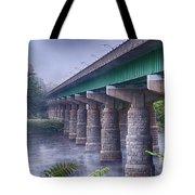 Bridge Over The Delaware River Tote Bag