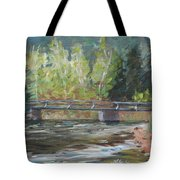 Bridge Over The Poudre Tote Bag