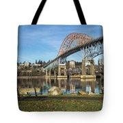 Bridge Over The River Tote Bag