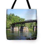 Bridge Over The River Tote Bag