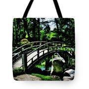 Bridge Over The Stream Tote Bag