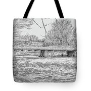 Bridge Over The Vermilion Tote Bag