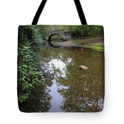 Bridge Over Tranquil Waters Tote Bag