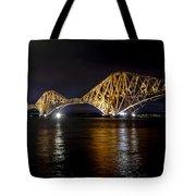 Bridge Over Water Lights. Tote Bag