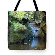 Bridge Over Waterfall Tote Bag