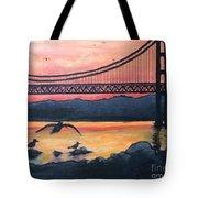 Bridge Silhouette  Tote Bag