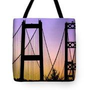 Bridge Sunset Tote Bag