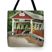 Bridge Through The Somerset Forest Tote Bag