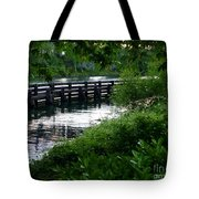 Bridge Through The Trees Tote Bag
