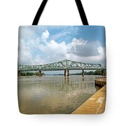 bridge to Belpre, Ohio Tote Bag