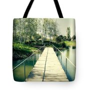 Bridge To Evening Island Tote Bag