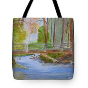Bridge To Serenity   Smithgall Woods State Park Tote Bag
