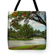 Bridges At Wailoa Tote Bag