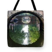 Bridges On Herengratch Canal In Amsterdam. Netherlands. Europe Tote Bag