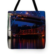 Bridges Red White And Blue Tote Bag